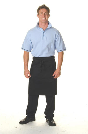 DNC Workwear-DNC Cotton Drill Three Quarters Apron NoPocket-0 / Black-Uniform Wholesalers