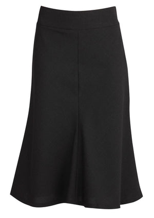Biz Corporates-Biz Corporates Fluted 3/4 length Skirt-Black / 4-Corporate Apparel Online - 2