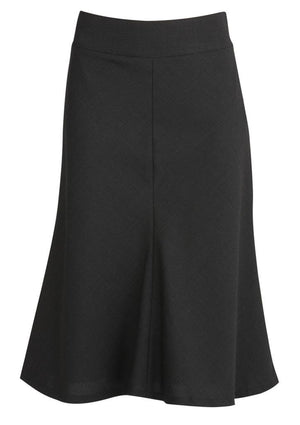 Biz Corporates-Biz Corporates Fluted 3/4 length Skirt-Charcoal / 4-Corporate Apparel Online - 4