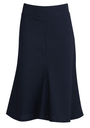 Biz Corporates-Biz Corporates Fluted 3/4 length Skirt-Navy / 4-Corporate Apparel Online - 6