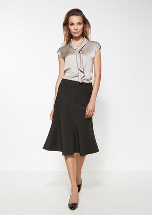 Biz Corporates-Biz Corporates Fluted 3/4 length Skirt--Corporate Apparel Online - 1