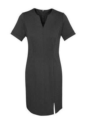 Biz Corporates-Biz Corporates Ladies Open Neck Dress-Charcoal / 4-Corporate Apparel Online - 2