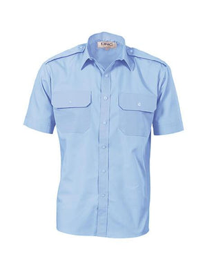 DNC Epaulette Polyester Cotton S/S Work Shirt (3213)