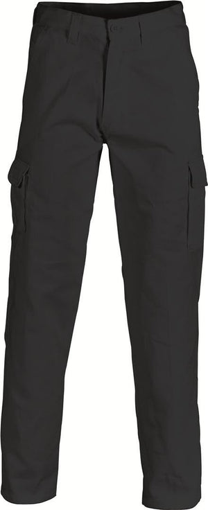 DNC Workwear-DNC Cotton Drill Cargo Pants 1st( 3 Colour)-Black / 72R-Uniform Wholesalers - 3