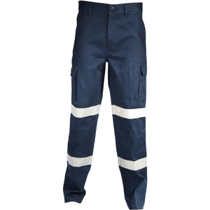 DNC Workwear-DNC Double Hoops Taped Cargo Pants-72R / Navy-Uniform Wholesalers - 1