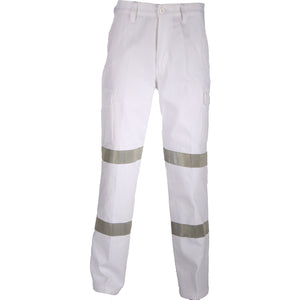 DNC Workwear-DNC Double Hoops Taped Cargo Pants-82R / White-Uniform Wholesalers - 2