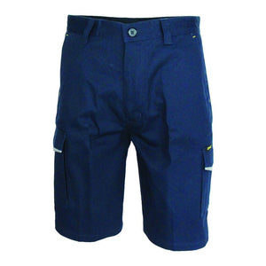 DNC Workwear-DNC RipStop Cargo Shorts-Navy / 77R-Uniform Wholesalers - 1
