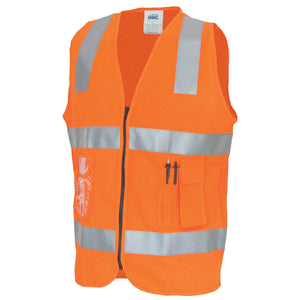 DNC Day/Night Side Panel Safety Vest with Generic R/Tape (3507)