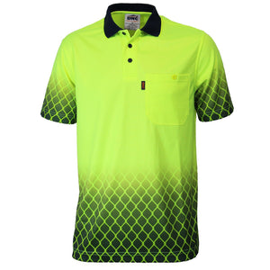 DNC HiVis Sublimated Metal Mesh Polo (3551)