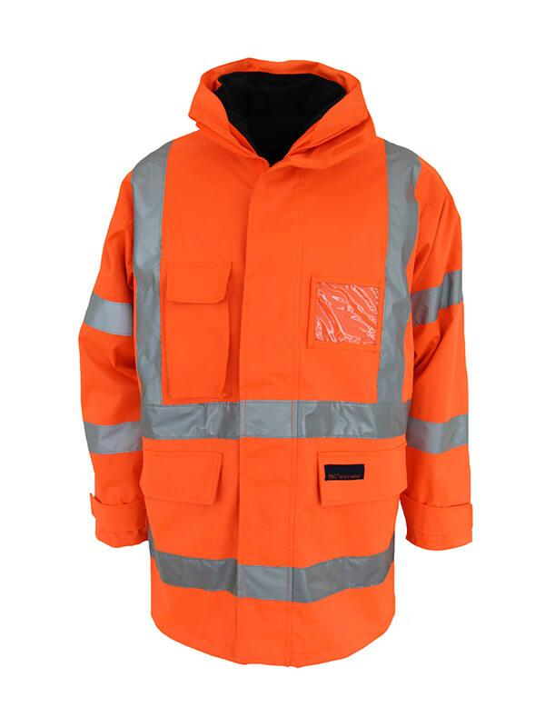 "Dnc HiVis ""6 in 1"" Breathable rain jacket Biomotion(3572)"