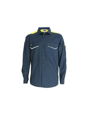 DNC RipStop Cool Cotton Tradies Shirt, L/S (3582)