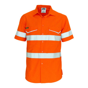 DNC Workwear-DNC RipStop Cotton Cool Shirt with CSR Reflective Tape. S/S-Orange / XS-Uniform Wholesalers