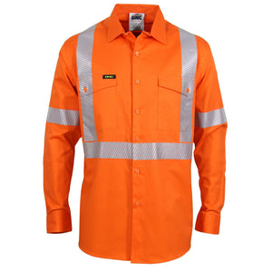 "Hivis Segment Taped Coolight ""X"" Back Shirt (3646)"