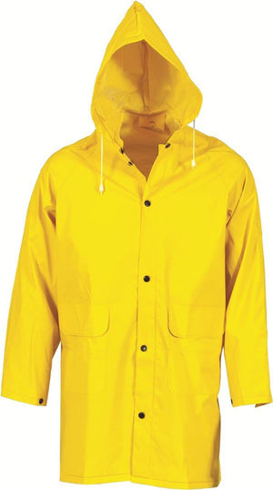 DNC Workwear-DNC PVC Rain Jacket-S / Yellow-Uniform Wholesalers
