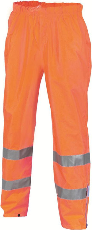 DNC Workwear-DNC HiVis D/N Rain Pants 200D W/Generic Tape-XS / Orange-Uniform Wholesalers - 1
