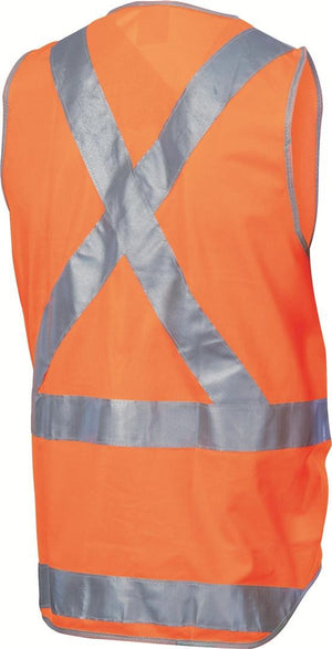 DNC Workwear-DNC Day & Night Cross Back Safety Vest with Tail--Uniform Wholesalers - 3
