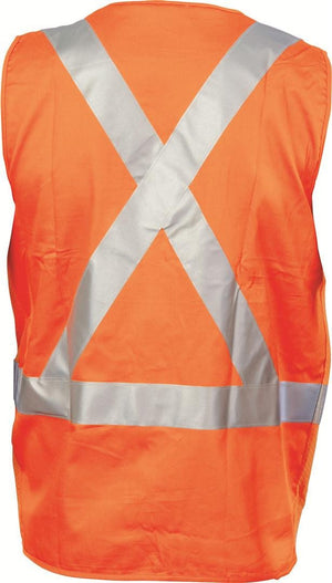 DNC Workwear-DNC Day/Night Cross Back Cotton Safety Vests--Uniform Wholesalers - 2