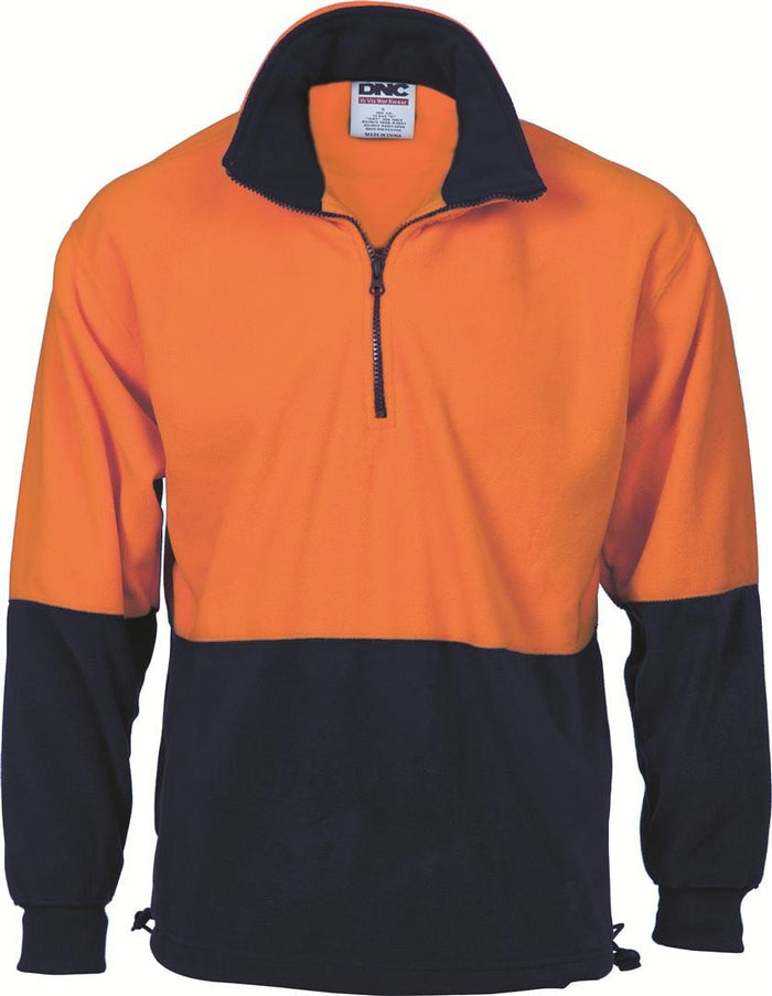 DNC HiVis Two Tone 1/2 Zip Polar Fleece (3825)