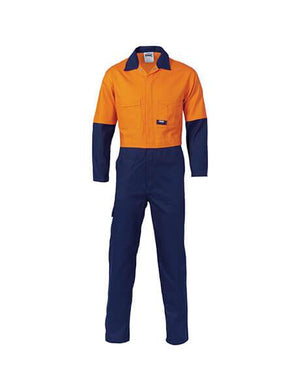 DNC HiVis Two Tone Cotton Coverall (3851)