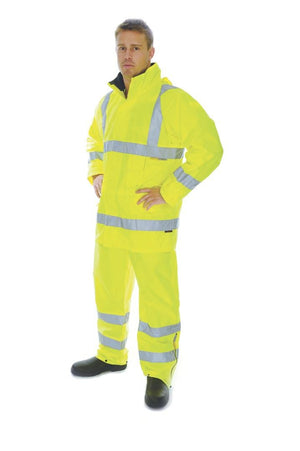 DNC Workwear-DNC HiVis D/N Breathable Rain Jacket with 3M 8906 R/Tape > 300D--Uniform Wholesalers - 1