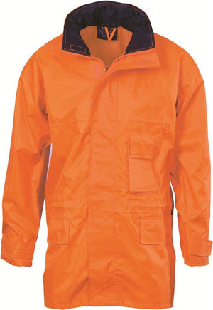 DNC Workwear-DNC HiVis Breathable Rain Jacket-Orange / S-Uniform Wholesalers - 1