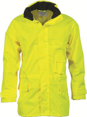 DNC Workwear-DNC HiVis Breathable Rain Jacket-Yellow / S-Uniform Wholesalers - 2