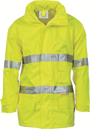 DNC Workwear-DNC HiVis Breathable Anti-Static Jacket with 3M R/T-M / Yellow-Uniform Wholesalers