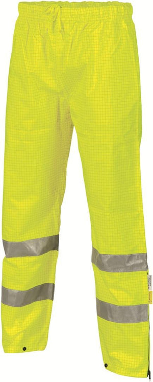 DNC Workwear-DNC HiVis Breathable Anti-Static Trousers with 3M R/T-M / Yellow-Uniform Wholesalers