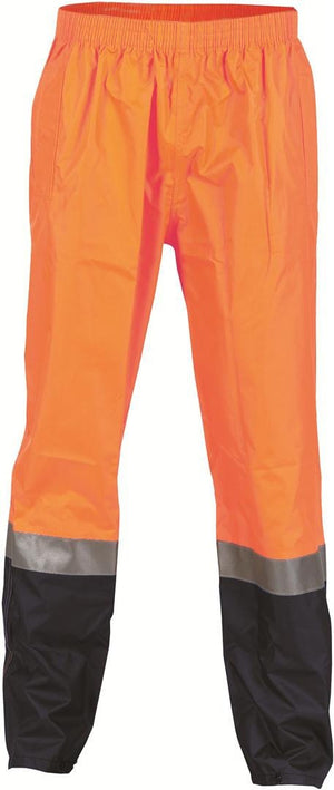 DNC Workwear-DNC HiVis Two Tone Lightweight Rain Trousers with 3M R/Tape > 190D-3XL / Orange/Navy-Uniform Wholesalers - 1