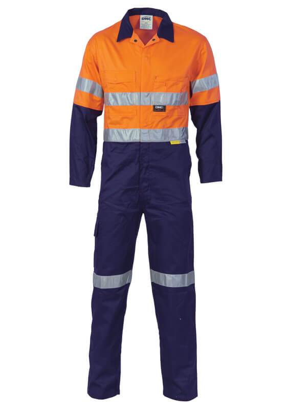 DNC HiVis Cool-Breeze 2-Tone L.Weight Cotton Coverall with 3M  R/T (3955)