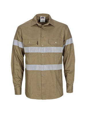 DNC HiVis Cool-Breeze Cotton L/S Shirt with generic R/T (3967)