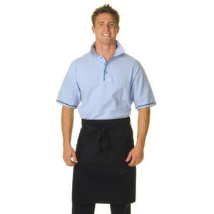 DNC Workwear-DNC Poly/Cotton Half (1/2) Apron With Pocket-0 / Black-Uniform Wholesalers