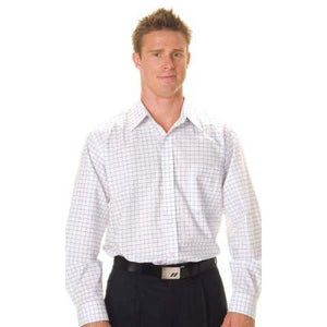 DNC Workwear-DNC Mens Yarn Dyed L/S Check Shirt--Uniform Wholesalers - 1