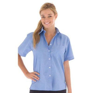 DNC Workwear-DNC Ladies Chambray Shirt, Short Sleeve--Uniform Wholesalers - 1