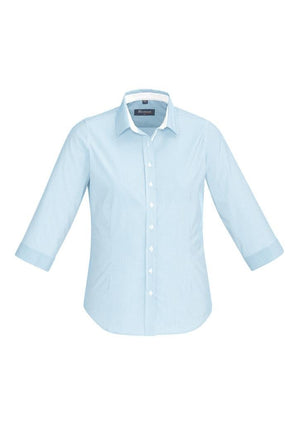 Biz Corporates-Biz Corporate Fifth Avenue Ladies 3/4 Sleeve Shirt-Alaskan Blue / 4-Corporate Apparel Online - 2