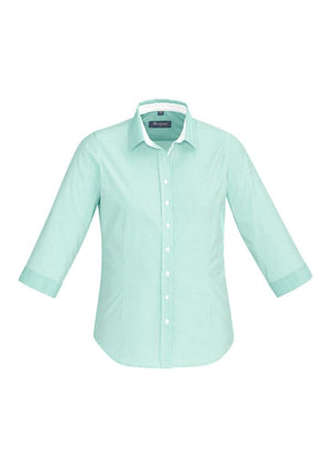 Biz Corporates-Biz Corporate Fifth Avenue Ladies 3/4 Sleeve Shirt-Dynasty Green / 4-Corporate Apparel Online - 5