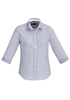 Biz Corporates-Biz Corporate Fifth Avenue Ladies 3/4 Sleeve Shirt-Patriot Blue / 4-Corporate Apparel Online - 9
