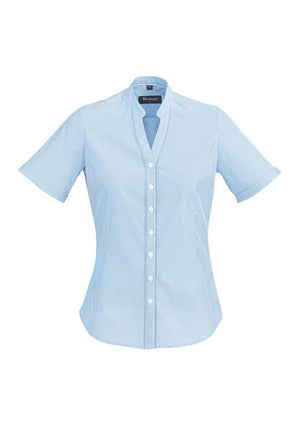 Biz Corporates-Biz Corporate Bordeaux Ladies Short Sleeve Shirt-Alaskan Blue / 4-Corporate Apparel Online - 2