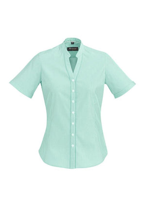 Biz Corporates-Biz Corporate Bordeaux Ladies Short Sleeve Shirt-Dynasty Green / 4-Corporate Apparel Online - 5