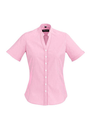 Biz Corporates-Biz Corporate Bordeaux Ladies Short Sleeve Shirt-Melon / 4-Corporate Apparel Online - 7