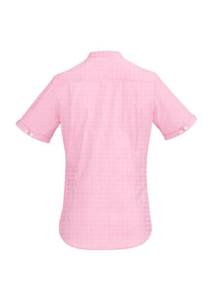 Biz Corporates-Biz Corporate Bordeaux Ladies Short Sleeve Shirt--Corporate Apparel Online - 8