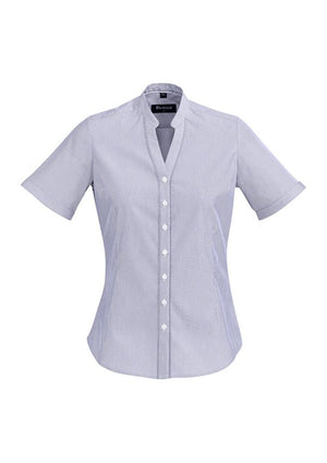 Biz Corporates-Biz Corporate Bordeaux Ladies Short Sleeve Shirt-Patriot Blue / 4-Corporate Apparel Online - 9