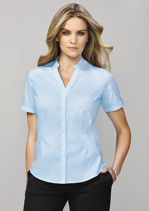 Biz Corporates-Biz Corporate Bordeaux Ladies Short Sleeve Shirt--Corporate Apparel Online - 1