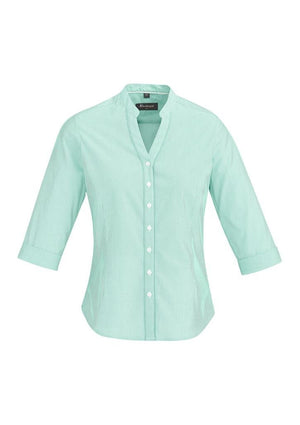 Biz Corporates-Biz Corporate Bordeaux Ladies 3/4 Sleeve Shirt-Dynasty Green / 4-Corporate Apparel Online - 5