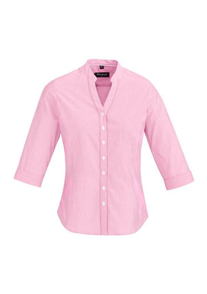 Biz Corporates-Biz Corporate Bordeaux Ladies 3/4 Sleeve Shirt-Melon / 4-Corporate Apparel Online - 7