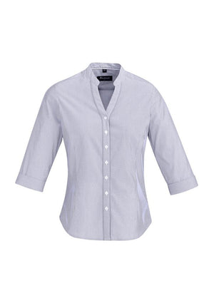 Biz Corporates-Biz Corporate Bordeaux Ladies 3/4 Sleeve Shirt-Patrlot Blue / 4-Corporate Apparel Online - 9
