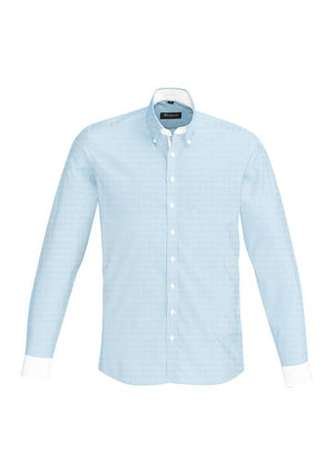 Biz Corporates-Biz Corporate Fifth Avenue Mens Long Sleeve Shirt-Alaskan Blue / XS-Corporate Apparel Online - 2