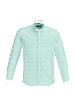 Biz Corporates-Biz Corporate Fifth Avenue Mens Long Sleeve Shirt-Dynasty Green / XS-Corporate Apparel Online - 5