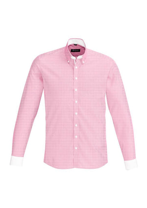 Biz Corporates-Biz Corporate Fifth Avenue Mens Long Sleeve Shirt-Melon / XS-Corporate Apparel Online - 7