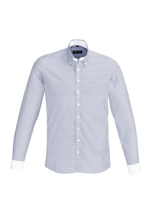 Biz Corporates-Biz Corporate Fifth Avenue Mens Long Sleeve Shirt-Patriot Blue / XS-Corporate Apparel Online - 9